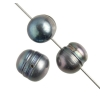 Freshwater Pearl 9-10mm Round Groove Grey